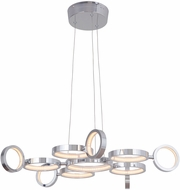 Craftmade 47191-CH-LED Mira Modern Chrome LED Adjustable Chandelier Light
