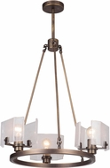 Craftmade 47623-PAB Trouvaille Modern Patina Aged Brass Mini Ceiling Chandelier