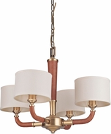 Craftmade 48124-VB Huxley Contemporary Vintage Brass Lighting Chandelier