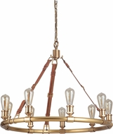 Craftmade 48129-VB Huxley Contemporary Vintage Brass Chandelier Light