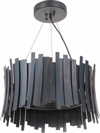 Craftmade 49490-FS-LED Bastion Contemporary Fired Steel LED Drum Lighting Pendant