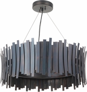 Craftmade 49491-FS-LED Bastion Modern Fired Steel LED Drum Pendant Lamp