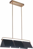 Craftmade 49573-GBKSB-LED Tente Modern Gloss Black/Satin Brass LED Island Light Fixture