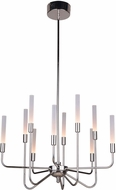 Craftmade 49610-PLN-LED Valdi Contemporary Polished Nickel LED Chandelier Light