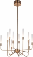 Craftmade 49610-SB-LED Valdi Modern Satin Brass LED Chandelier Lighting