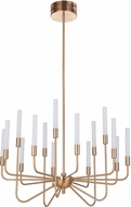 Craftmade 49615-SB-LED Valdi Modern Satin Brass LED Chandelier Lamp