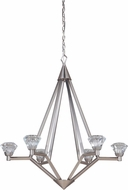 Craftmade 49726-BNK-LED Radiante Brushed Polished Nickel LED Mini Chandelier Light
