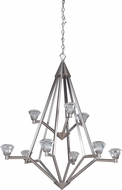 Craftmade 49729-BNK-LED Radiante Brushed Polished Nickel LED Ceiling Chandelier