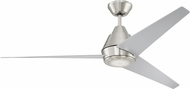 Craftmade ACA56BNK3 Acadian Contemporary Brushed Polished Nickel LED Outdoor 56 Ceiling Fan
