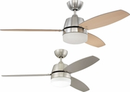 Craftmade BEL52BNK3-LED-UCI Beltre Contemporary Brushed Polished Nickel LED 52  Ceiling Fan