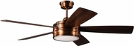Craftmade BRX52BCP5 Braxton Brushed Copper LED 52  Residential Ceiling Fan