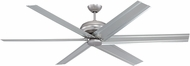 Craftmade COL72BN6 Colossus Modern Brushed Satin Nickel 72  Home Ceiling Fan