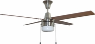 Craftmade CON48BNK4C1 Connery Brushed Polished Nickel LED 48  Ceiling Fan