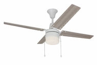 Craftmade CON48W4C1 Connery White LED 48  Home Ceiling Fan