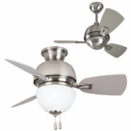 Craftmade DA30BNK3 Dane Modern Brushed Polished Nickel Halogen 52  Ceiling Fan