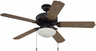 Craftmade END52ABZ5PC1 Enduro Aged Bronze Brushed Fluorescent Interior / Exterior 52  Home Ceiling Fan