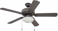 Craftmade END52ESP5PC1 Enduro Espresso Fluorescent Interior / Exterior 52  Home Ceiling Fan