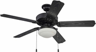 Craftmade END52MBK5PC1 Enduro Matte Black Fluorescent Indoor / Outdoor 52  Ceiling Fan