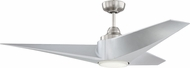 Craftmade FRE56BNK3 Freestyle Modern Brushed Polished Nickel LED 56  Ceiling Fan