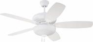 Craftmade FZA52W5C1 Forza White Indoor 52 Ceiling Fan