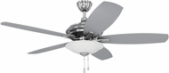 Craftmade JAM52BNK5-LED Jamison Brushed Polished Nickel LED 52  Home Ceiling Fan