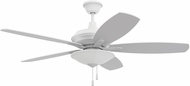 Craftmade JAM52W5-LED Jamison White LED 52  Ceiling Fan