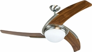 Craftmade JU54BNKW3-LED Juna Modern Brushed Polished Nickel 54  Ceiling Fan
