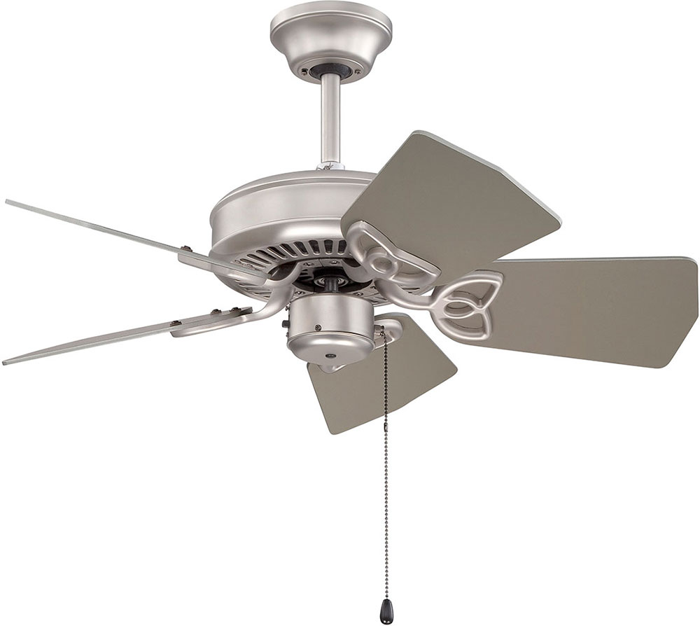 30 Indoor Outdoor Wall Fan : Craftmade k piccolo brushed satin nickel indoor