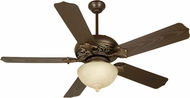 Craftmade K10335 Outdoor Mia Aged Bronze/Vintage Madera Fluorescent Outdoor 52  Ceiling Fan
