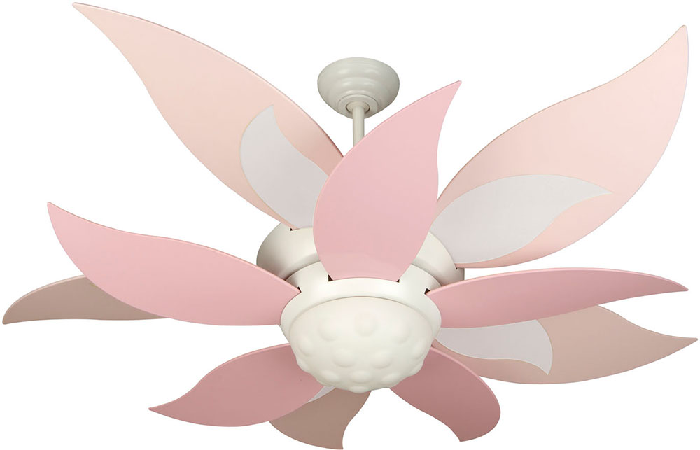 Craftmade k10368 bloom contemporary white fluorescent for White contemporary ceiling fans with lights