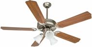Craftmade K10405 Pro Builder 205 Brushed Satin Nickel 52  Home Ceiling Fan