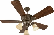 Craftmade K10408 Chaparral Aged Bronze Textured Fluorescent Indoor/Outdoor 52  Ceiling Fan