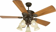 Craftmade K10409 Chaparral Aged Bronze Textured Fluorescent Indoor / Outdoor 54  Home Ceiling Fan