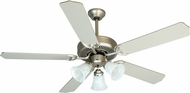 Craftmade K10422 Pro Builder 205 Brushed Satin Nickel Indoor 52  Ceiling Fan