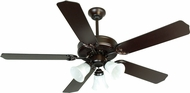 Craftmade K10423 Pro Builder 205 Oiled Bronze Indoor 52  Home Ceiling Fan