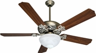 Craftmade K10438 Cecilia Unipack Brushed Satin Nickel Fluorescent Indoor 52  Home Ceiling Fan