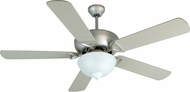 Craftmade K10518 Leeward Brushed Satin Nickel Fluorescent Indoor / Outdoor 52  Ceiling Fan