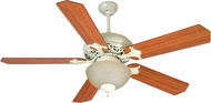 Craftmade K10723 Mia Antique White Distressed Fluorescent Indoor 52  Home Ceiling Fan