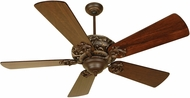 Craftmade K10725 Ophelia Aged Bronze/Vintage Madera Indoor 54  Ceiling Fan