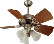 Craftmade K10740 Piccolo Brushed Satin Nickel Fluorescent Indoor / Outdoor 30  Ceiling Fan