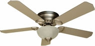 Craftmade K10777 Pro Universal Hugger Brushed Satin Nickel Fluorescent Indoor 52  Ceiling Fan