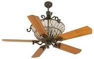 Craftmade K10876 Cortana Peruvian Bronze Halogen Indoor 52  Home Ceiling Fan