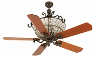 Craftmade K10877 Cortana Peruvian Bronze Halogen Indoor 52  Ceiling Fan