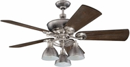 Craftmade K11065 Timarron Brushed Polished Nickel Indoor 54  Ceiling Fan
