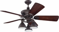Craftmade K11066 Timarron Aged Bronze Brushed Indoor 54  Home Ceiling Fan
