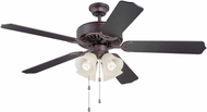 Craftmade K11110 Pro Builder 204 Oiled Bronze Fluorescent Indoor 52  Home Ceiling Fan