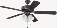 Craftmade K11113 Pro Builder 205 Flat Black Indoor 52  Home Ceiling Fan