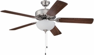 Craftmade K11121 Pro Builder 207 Brushed Polished Nickel Fluorescent Indoor 52  Ceiling Fan