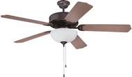 Craftmade K11122 Pro Builder 207 Oiled Bronze Fluorescent Indoor 52  Home Ceiling Fan