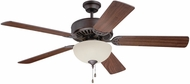Craftmade K11124 Pro Builder 208 Aged Bronze Brushed Fluorescent Indoor 52  Ceiling Fan
